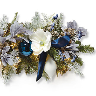 Delft Blue Indoor Cordless 6' Garland