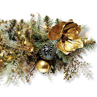 Gold Rush Indoor Cordless 6 ft. Garland