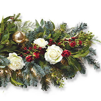 Holiday Tidings Indoor Cordless 6 ft. Garland