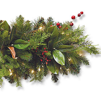 Holiday Tidings Outdoor Cordless 6 ft. Garland