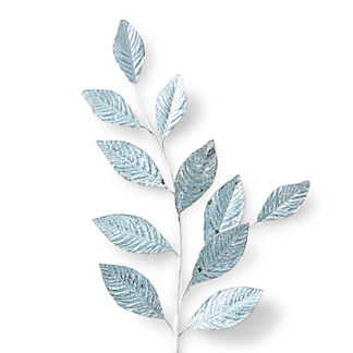 Crackle Magnolia Leaf Stems, Set of Six
