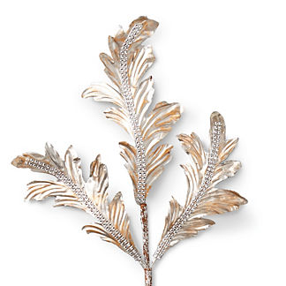Champagne Acanthus Leaf Stems, Set of Six