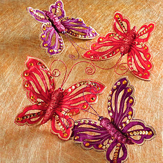 Butterfly Clips, Set of Four