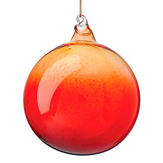 Shiny Ombre Glass Sphere Ornament