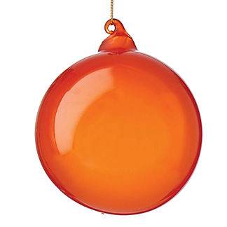 Persimmon Bubblegum Sphere Ornaments, Set of Three