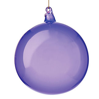 Purple Bubblegum Sphere Ornaments, Set of Three