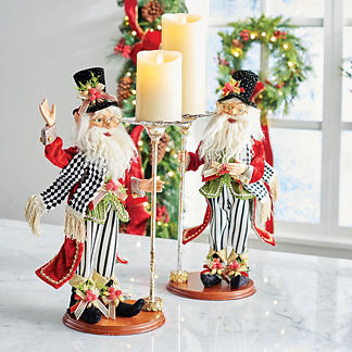 Mark Roberts North Pole Catering Elf with Candleholder, Set of Two