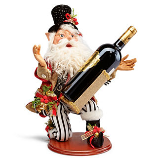 Mark Roberts North Pole Catering Elf with Wine Holder