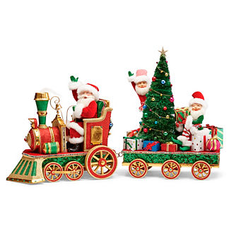 Christmas in Toyland Santa with Elves by Katherine's Collection