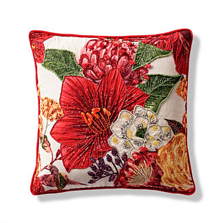 Winter Blooms Decorative Pillow Cover