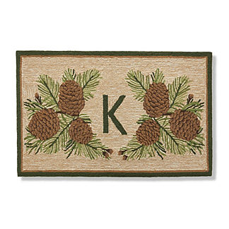 Pine Cone Monogrammed Door Mat