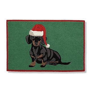 Holiday Dogs Door Mat