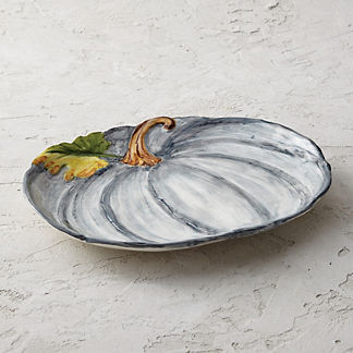 Pumpkin Ceramic Serving Platter