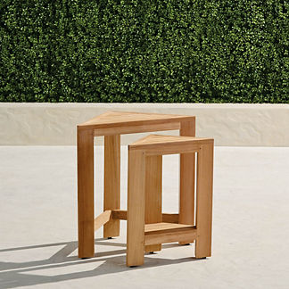 Kenley Teak Nesting Tables, Set of Two