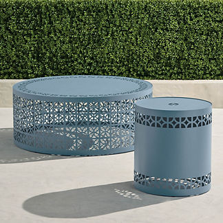 Sonora Tables in Moonlight Blue Finish