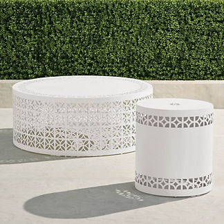 Sonora Tables in White Finish