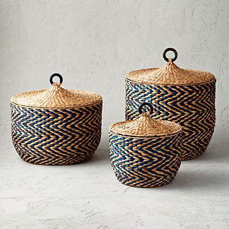 Zelda Lidded Baskets