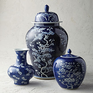 Deep Indigo Ming Ceramic Collection