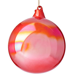 Pearl Rust Glass Ornaments, Set of Three