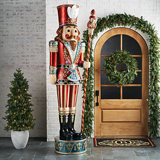 LED 9' Giant Nutcracker