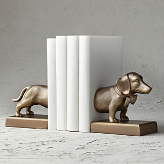 Dashing Dalton Dachshund Bookends