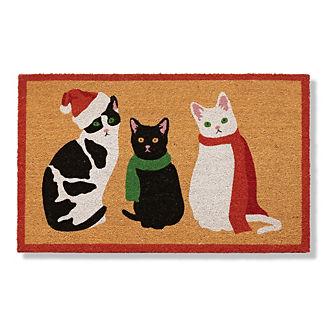 Christmas Cats Coco Door Mat