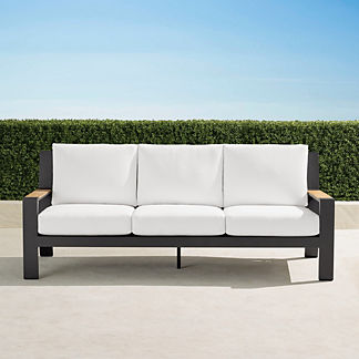 Calhoun Sofa with Cushions in Aluminum, Special Order