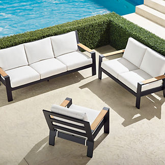 Calhoun 3-pc. Sofa Set in Aluminum
