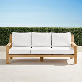 Calhoun Sofa with Cushions in Natural Teak, Special Order