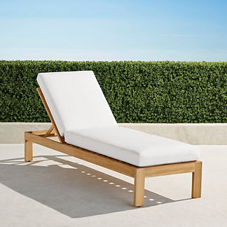 Calhoun Chaise with Cushions in Natural Teak, Special Order