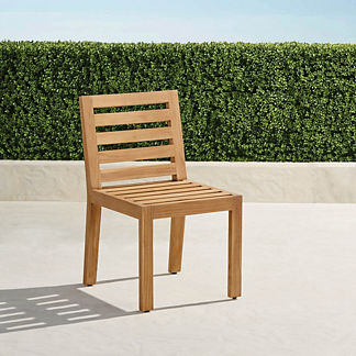 Calhoun Dining Side Chairs in Natural Teak. Set of Two