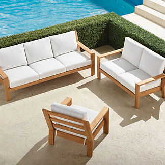 Calhoun 3-pc. Sofa Set in Teak