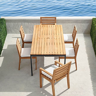 Calhoun 7-pc. Dining Set in Teak