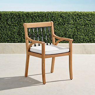 Ambra Dining Arm Chairs with Cushions. Set of Two