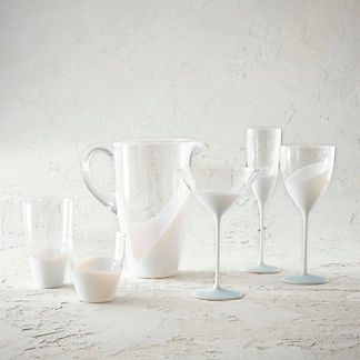 Kim Seybert Vague Drinkware, Set of Four