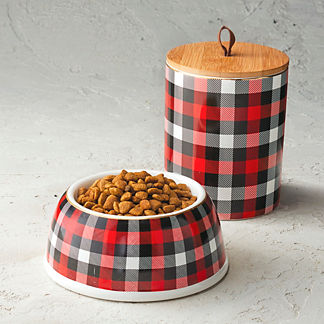 Yuletide Plaid Pet Accessories