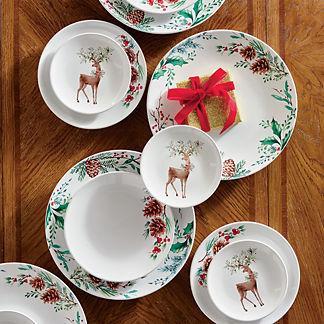 Woodsy Wonderland Holiday Dinnerware
