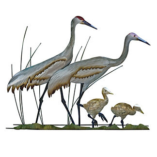 Woodland Cranes Family Wall Art