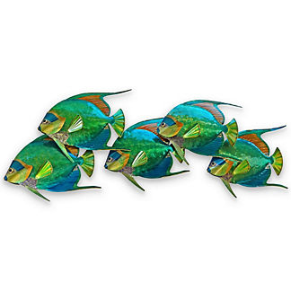 Fiji Angelfish School Wall Art