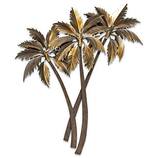 Swaying Triple Palms Wall Art