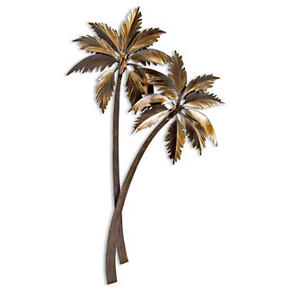 Swaying Double Palms Wall Art