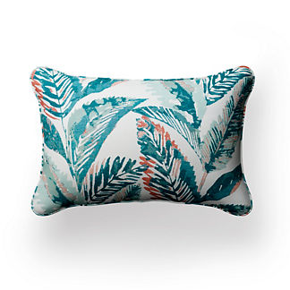 Indio Leaves Lumbar Indoor/Outdoor Pillow