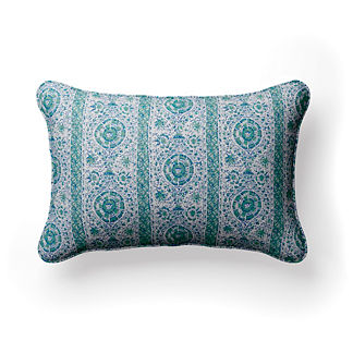 Son Bou Stripe Lumbar Indoor/Outdoor Pillow