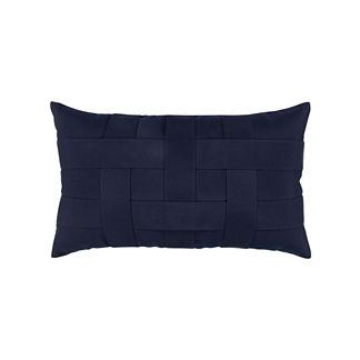 Basketweave Lumbar Indoor/Outdoor Pillow by Elaine Smith