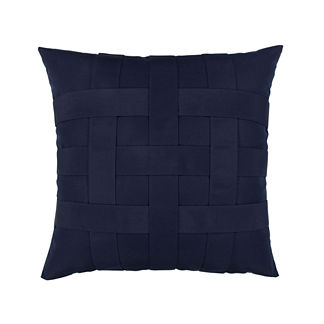 Basketweave Indoor/Outdoor Pillow by Elaine Smith
