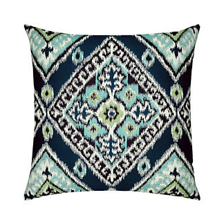 Ikat Diamond Indoor/Outdoor Pillow by Elaine Smith