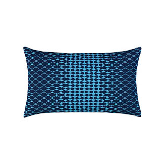 Optic Lumbar Indoor/Outdoor Pillow by Elaine Smith
