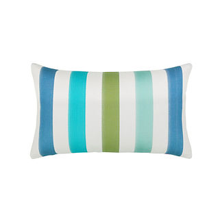 Rhodes Stripe Lumbar Indoor/Outdoor Pillow by Elaine Smith