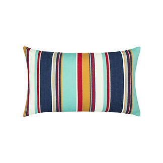 Sicily Stripe Lumbar Indoor/Outdoor Pillow by Elaine Smith