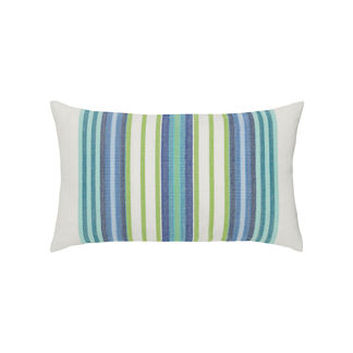 Summer Stripe Lumbar Indoor/Outdoor Pillow by Elaine Smith